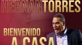 Hernán Torres regresa a Tolima tras ocho años. Twitter/DeportesTolima