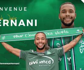 Hernani busca sumar minutos en el conjunto galo. ASSaint-Etienne