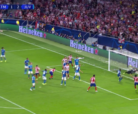 Herrera saved ATletico and got the draw. Captura/Movistar+