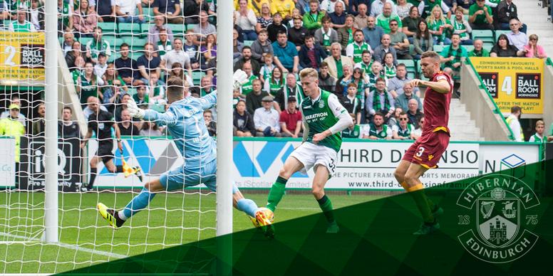 Hibernian defeat Motherwell 3-0. HibsOfficial/Cameron Allan