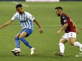Málaga y Extremadura empataron a uno. LaLiga