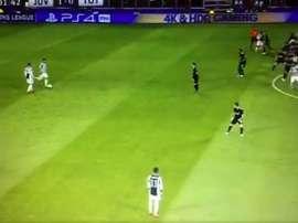 O momento do 1º gol de Higuaín. Captura