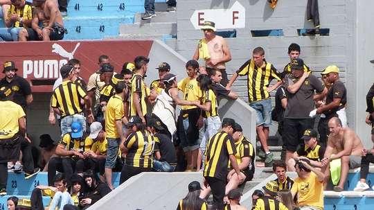 La violencia invade el fútbol uruguayo. PeñarolOficial