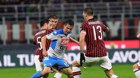 Après Allan, Ancelotti insiste pour Lozano. Twitter/sscnapoli
