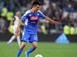 Lozano, incertain avant le retour de la Serie A . Twitter/sscnapoliES