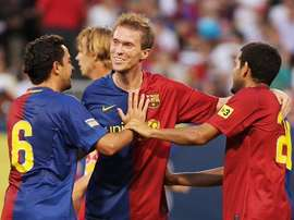 Hleb spent four seasons playing under Guardiola at Barcelona. Twitter/FCBarcelona