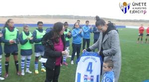 Las lesiones obligaron a Sandra García a anunciar su retirada. Twitter/sportinghuelva