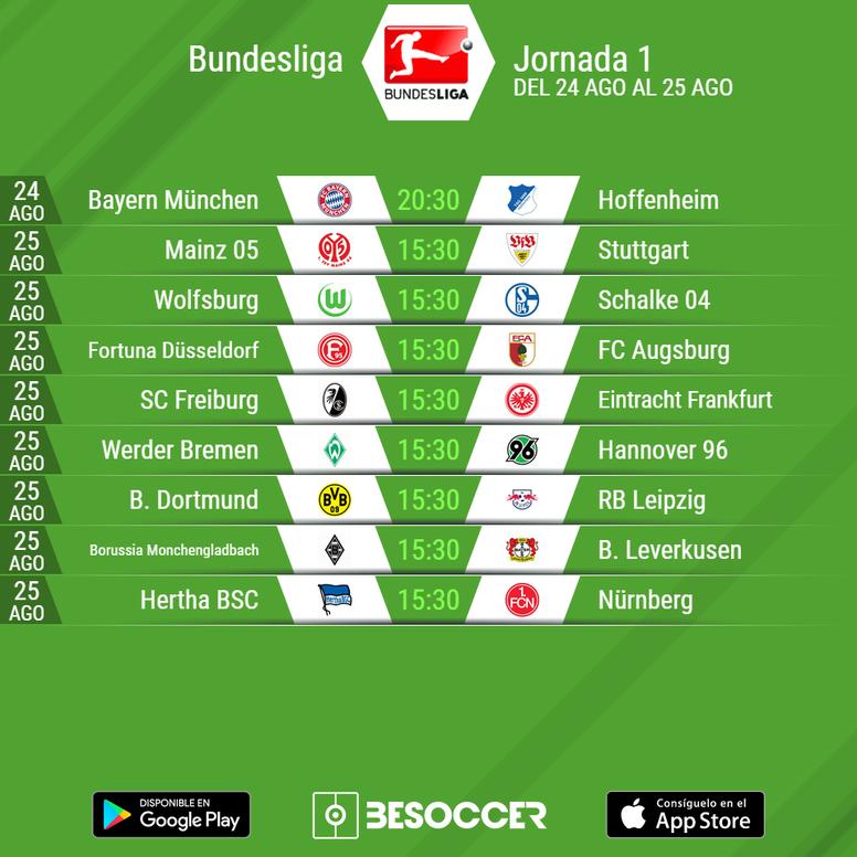 Bundesliga Calendario.Asi Queda El Calendario De La Bundesliga 18 19 Besoccer