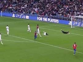 El Viktoria Plzen metió miedo en el Bernabéu. Captura/chirichampions