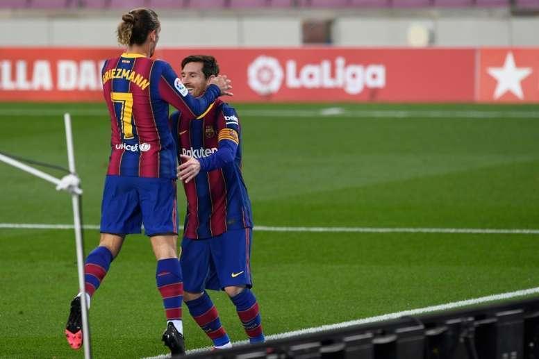 L'ancien agent de Griezmann admet qu'il ne lui a jamais parlé de Messi. AFP