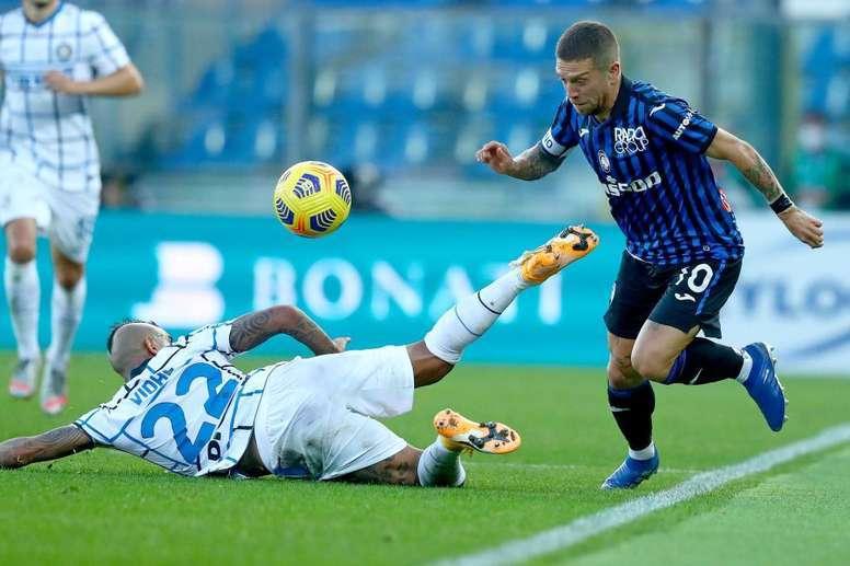 L'Inter n'y arrive pas et fait match nul contre l'Atalanta. EFE