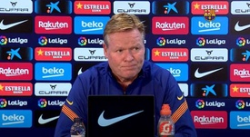 Koeman parla in conferenza stampa. BarçaTV