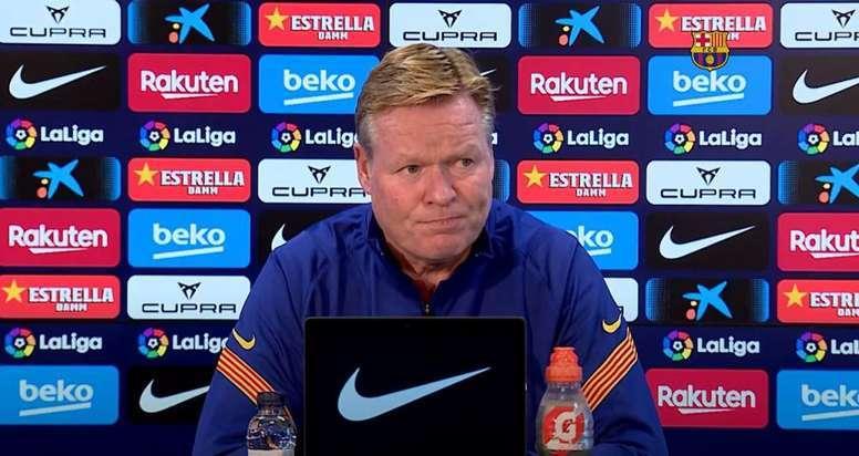 Técnico do Barcelona concedeu entrevista nesta sexta-feira. Reprodução/BarçaTV