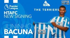 Huddersfield have signed Juninho Bacuna. Twitter/HT