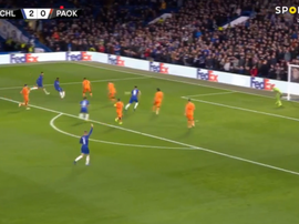 Hudson-Odoi scored Chelsea's third. Captura/SportTV
