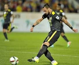 Hugo Almeida, durante un partido. Twitter
