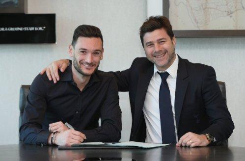 Lloris (L) penned a new deal earlier this week. TottenhamHotspurFC