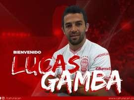 Lucas Gamba llega hasta 2022. Twitter/CAHuracan