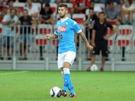 Elseid Hysaj could on United's books next season. SSCNapoli
