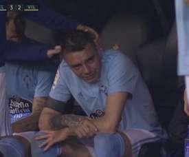Les larmes de Iago Aspas. Capture/BeinSport
