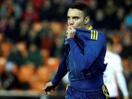 Iago Aspas, meilleur buteur espagnol en Liga. EFE