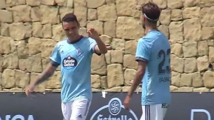 Iago Aspas marcó de penalti. Captura/CeltaDeVigo