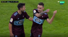 Aspas cumplió su promesa. Captura/Movistar