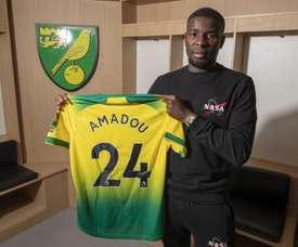 Séville prête Amadou à Norwich. Twitter/NorwichCityFC
