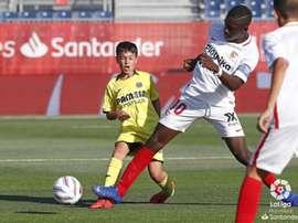 Ibrahima Sow lors du match Séville-Villarreal le 14/06/2019. LaLiga