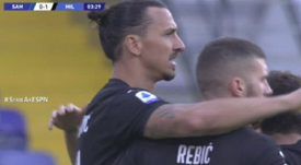 Ibrahimovic opened the scoring after four minutes. Captura/ESPN