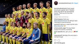 Ibrahimovic a félicité la Suède. Instagram/iamzlatanibrahimovic
