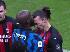 La pelea entre Lukaku e Ibra, en vídeo. Captura/DAZN