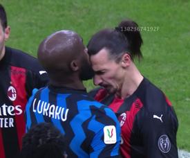 Lukaku and Ibrahimovic's comments got personal. Screenshot/DAZN