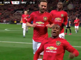 Ighalo inscrit son premier but sous les couleurs de Man United. Capture/MovistarFutbol