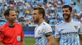 Miguel Torres (d) niega que el Málaga se dejase ganar ante el Madrid. BeSoccer