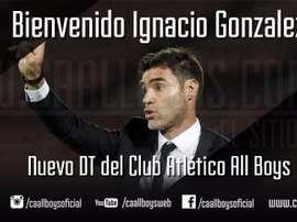 Igancio González, nuevo técnico de All Boys. CAAllBoys