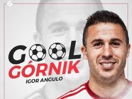 Igor Angulo se está destapando a sus 33 años. Twitter/GornikZabrze