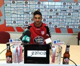 Igor compareció ante los medios en la rueda de prensa previa al partido ante el Nàstic. CDLugo