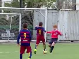Iker Almena es uno de los jugadores con más calidad de la cantera blaugrana. FCBarcelona-Youtube