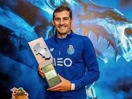 Casillas, élu meilleur gardien de la saison 2018-19 du championnat portugais. Twitter/IkerCasillas