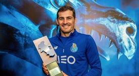 Casillas, mejor portero de la pasada temporada. Twitter/IkerCasillas