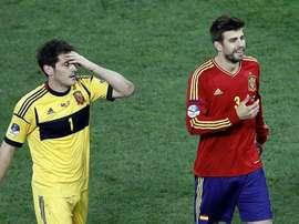 Piqué y Casillas fueron campeones del Mundo y de Europa juntos. EFE