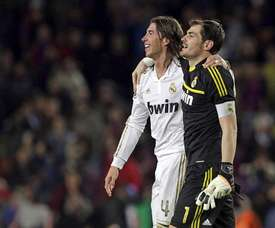 Ramos rend hommage à Casillas. afp