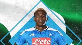 Osimhen è un giocatore del Napoli. SSCNapoli
