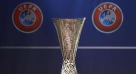 Sorteio dos oitavos da Europa League 2018-19.AFP