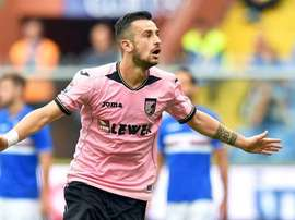 El jugador del Palermo está en los planes del Everton si se va Lukaku. EFE/Archivo
