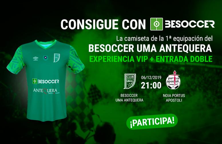 Súper sorteo de BeSoccer para el BeSoccer CD UMA Antequera-Noia Portus Apostoli. BeSoccer