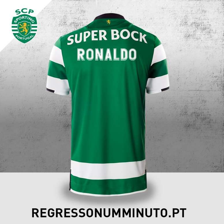 reputable site 4deb5 b704f Sporting prepared a shirt to welcome Ronaldo back to his ...