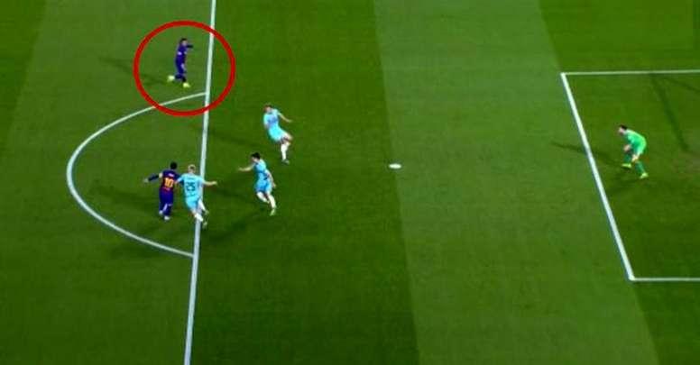 Quand Messi trouve le poteau... alors qu'il aurait pu trouver Griezmann. aptura/MovistarLigadeCampeo