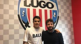 Hugo Rama se perderá la pretemporada del Lugo. Twitter/CDLugo